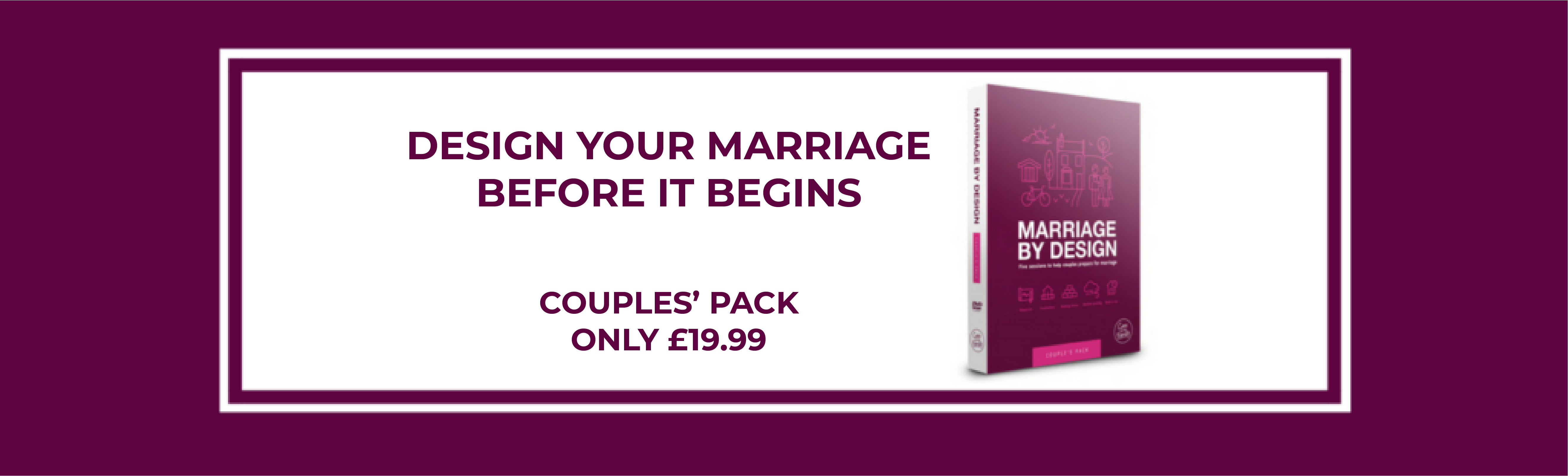 Marriage by design shop banner