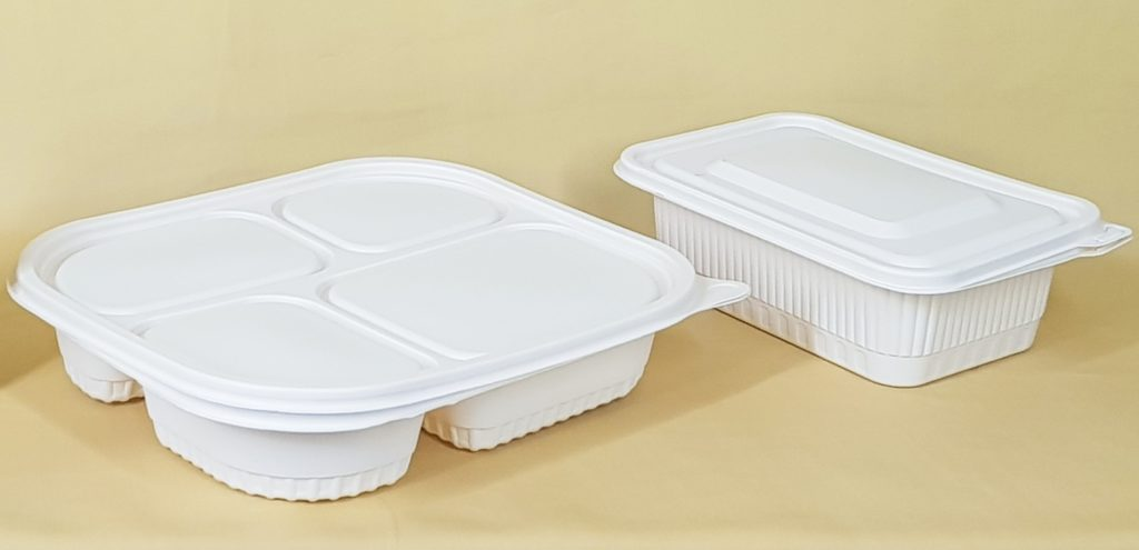 two plastic containers