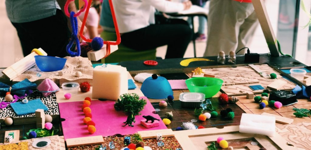 A messy craft table
